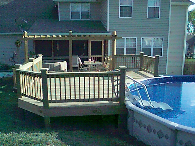 Pool decks - Above ground pools with decks ...
